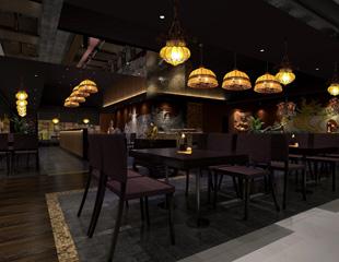非标工程灯饰定制案例—泰泰米连锁餐厅